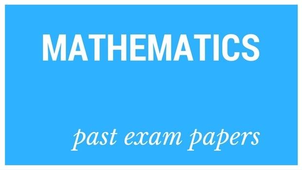 Past matric exam papers: Mathematics