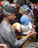 Rescued Chibok girls meet the vice president