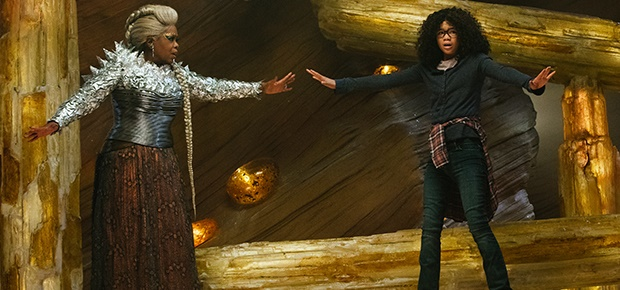 Oprah Winfrey and Storm Reid in a scene from the movie A Wrinkle in Time. (Disney)