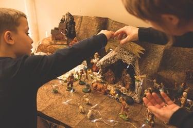 italy, christmas, family, nativity crib