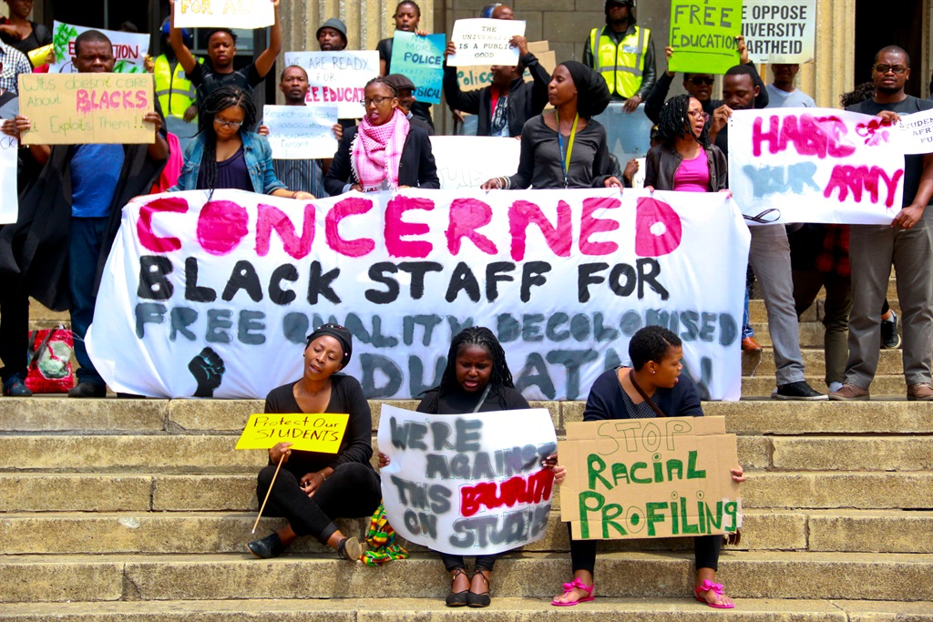 The protest at Wits University. Picture: Ndileka Lujabe/City Press