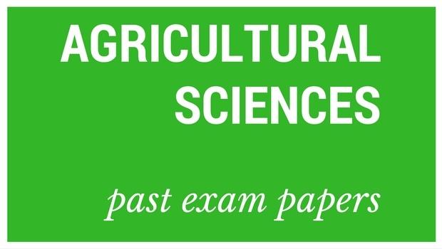NSC Past Matric Exam Papers Agricultural Sciences Parent24