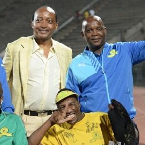 Patrice Motsepe and Pitso Mosimane (Gallo Images)