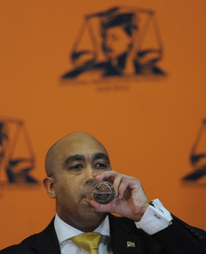 NPA head Shaun Abrahams during the press conference. (Felix Dlangamandla, Netwerk24)