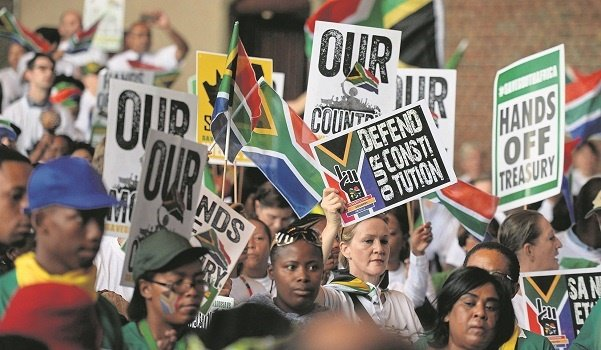 The Save South Africa group holds a prayer meeting at St Alban's cathedral in Pretoria while the state capture case was being heard in the North Gauteng High Court. There were demonstrations around the country on Wednesday in support of democracy.