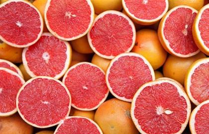 close up of grapefruits