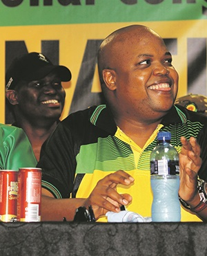 ANC Youth League president Collen Maine during the youth league's conference in Durban Picture: Siyanda Mayeza