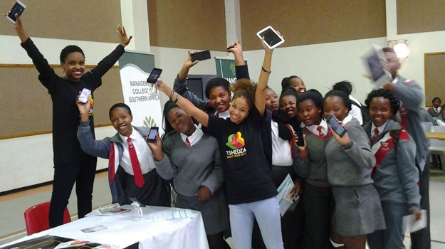 With the Tshedza app learners have access to a guidance counsellor through their phones. (Pic: Supplied)
