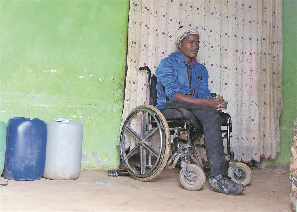 Solomzi Bodoza, who lost his leg after being tortured at initiation school. Picture: Lubabalo Ngcukana