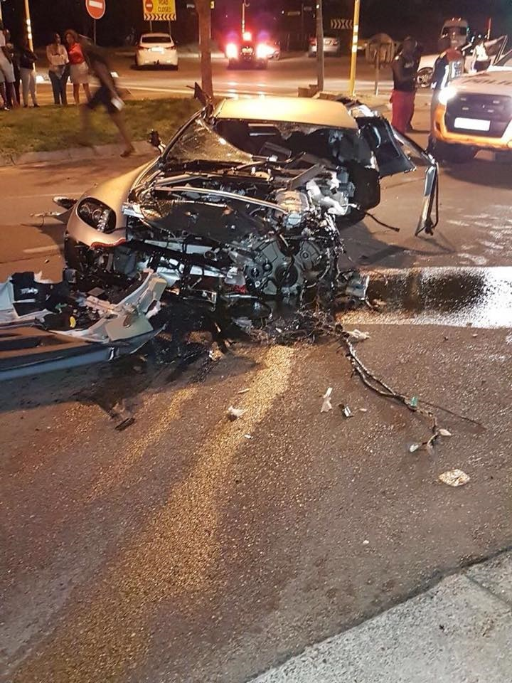 PICS: ASTON MARTIN WRECKED IN ACCIDENT!