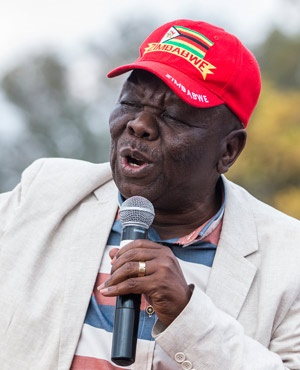 Zimbabwean opposition leader Morgan Tsvangirai of the MDC addresses supporters gathered at a rally to launch the opposition parties' coalition to fight Zimbabwe long-time ruler Robert Mugabe in 2018 in Harare. (AFP)