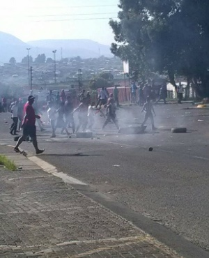 Protest action in QwaQwa in the Free State. (Supplied)
