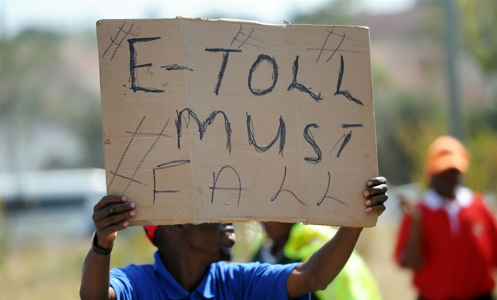 There has been a public boycott of Sanral's e-toll system and many people haven't paid their bills. Picture: Felix Dlangamandla