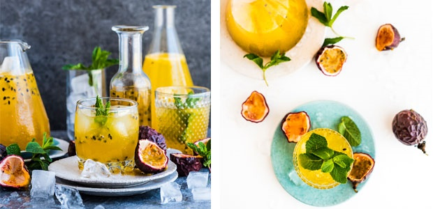 passion fruit, champagne,drinks, recipes, food24