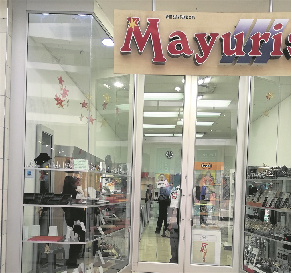 PHOTO:nicole john Mayuris jewellery store was robbed yesterday after an armed robbery.