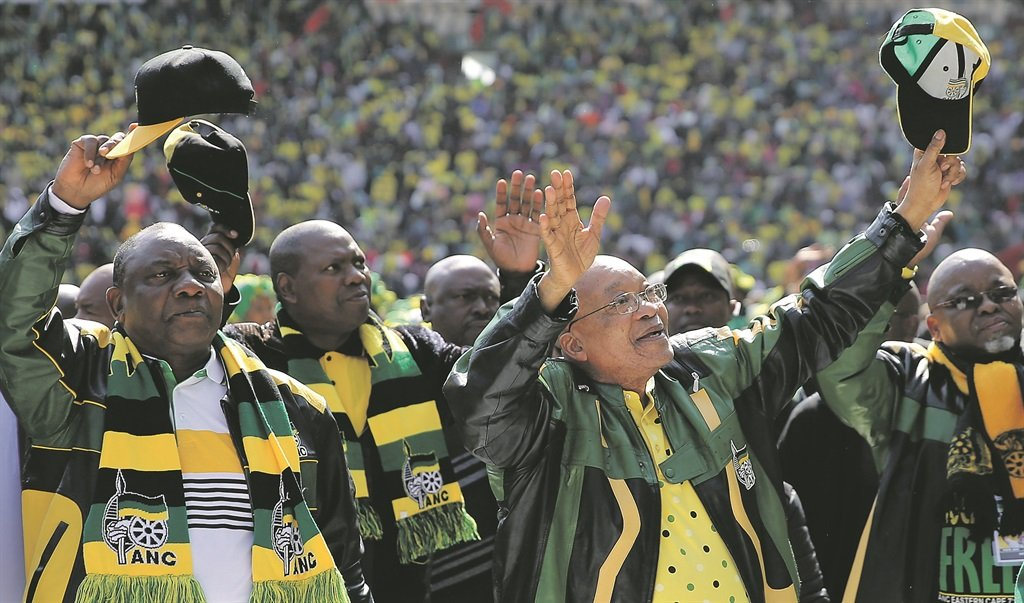 President Jacob Zuma waves to his supporters as he arrives at the party's traditional Siyanqoba rally in Johannesburg in July this year, ahead of the local municipal elections that proved disastrous for the ANC. Picture: Siphiwe Sibeko/Reuters