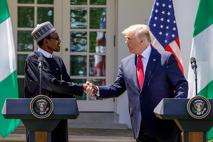 Muhammadu Buhari and donlad trump hold talks