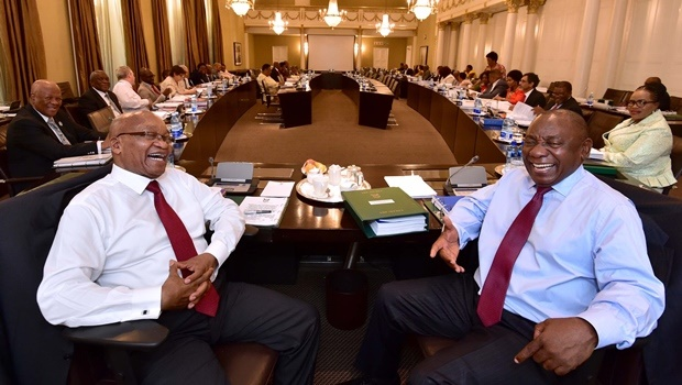 President Jacob Zuma, Deputy President Cyril Ramaphosa, Ministers and Deputy Ministers at the scheduled routine meetings of cabinet committees in Cape Town on Wednesday.