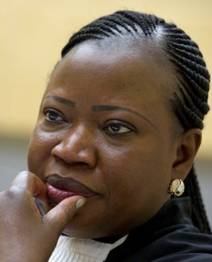 In this November 27, 2013, file photo, prosecutor Fatou Bensouda waits for the start of the trial at the International Criminal Court (ICC) in The Hague, Netherlands. (Peter Dejong, AP, File)