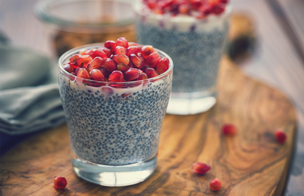 chia seeds and fruit