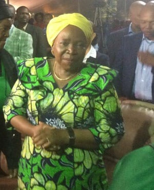 Nkosazana Dlamini-Zuma at faith gospel ministry in Khutsong, Carletonville. It was her first speaking engagement after stepping down as AU chair. (Tshidi Madia, News24)