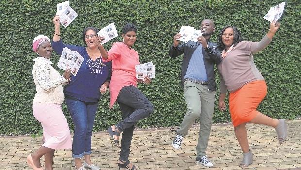 Lungile Mlaba, Shereen Naidu, Merle Perumal, Njabulo Mpungose and Zime Nxumalo at the Museums Passport Competition launch at Msunduzi museum on Friday.