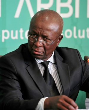 Former Deputy Chief Justice Dikgang Moseneke during the Life Esidimeni arbitration hearing at Emoyeni Conference Centre, Parktown in Johannesburg. (File, Gallo Images)