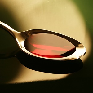 medicine spoon with codeine syrup