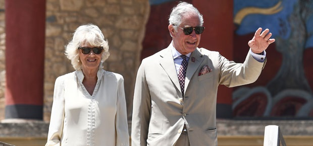 Prince Charles and Camilla arrive in Gambia. (Photo: AP)