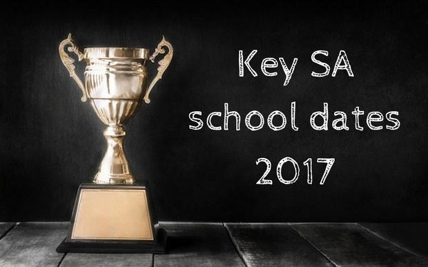Key SA school dates 2017