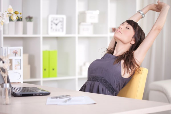 exercise and stretching in the office
