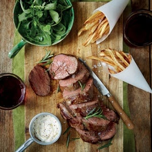 Beef Fillet With Sweet Potato Wedges Food24