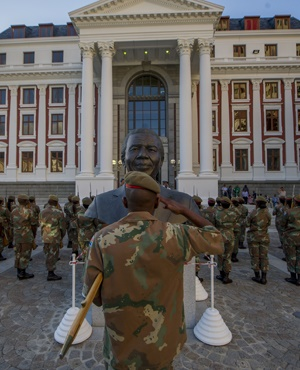 Soldiers rehearse for the 2017 State of the Nation Address. (Jaco Marais, Netwerk24)