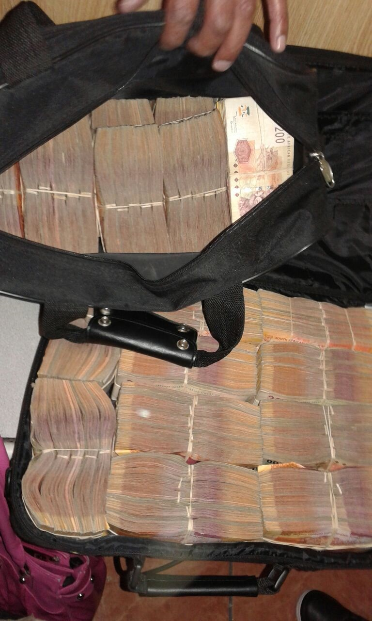 The cash confiscated during the arrest of a Belhar man.