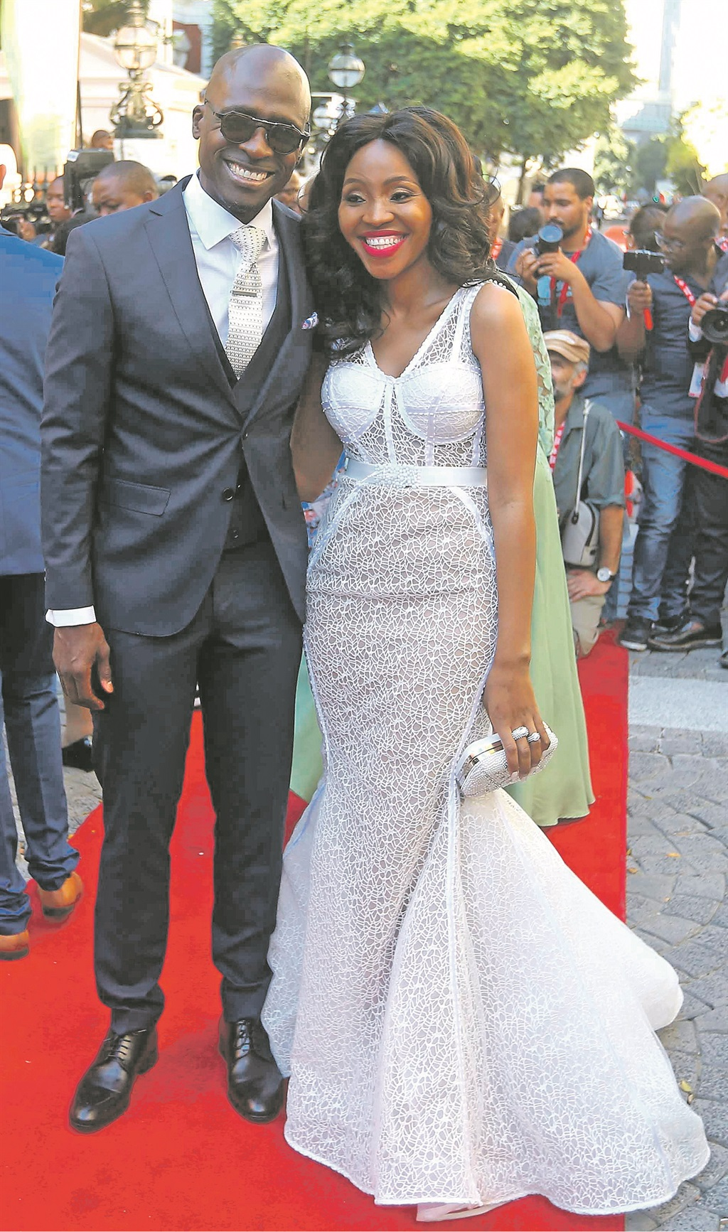 stunning Home Affairs Minister Malusi Gigaba and his wife Noma looked fantastic ahead of the state of the nation address on Thursday  PHOTO: gallo images