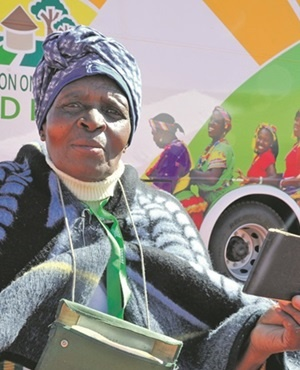 RESTITUTION: Paulina Hadebe (74) travelled from Makwane, Free State, to the land claims offices in Phuthaditjhaba to lodge a claim for a portion of a farm on April 25 2015. (Lucky Nxumalo)