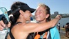 Second placed Christie Mackenzie (17) hugs her mom Jo at the finish of the Dusi Canoe Marathon at Blue Lagoon in Durban on Saturday.