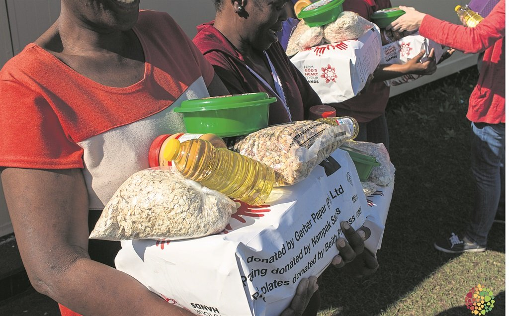 Photo: suppliedCast assists the poor via its food parcel programme.