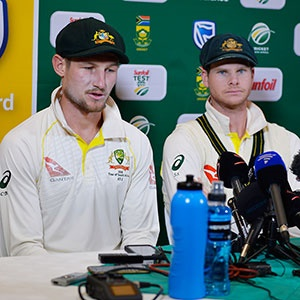 Cameron Bancroft and Steve Smith (Gallo Images)