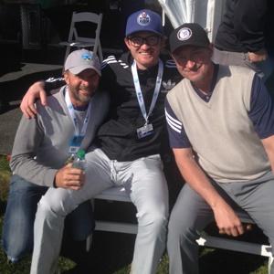 Dave Marshall, Trevor Gretzky and Wayne Gretzky (Supplied)