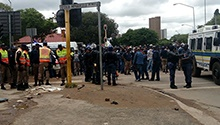 WATCH: Chaos as police, protesters clash in PTA