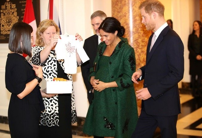 A royal baby is everyone's baby. The Duke And Duchess Of Sussex Attend A Commonwealth Day Youth Event At Canada House.