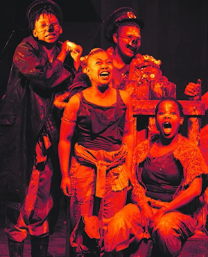 Close to home: Neil Coppen's adaptation of Animal Farm, which was staged last year, featured an all-female cast Picture: Leon Sadiki