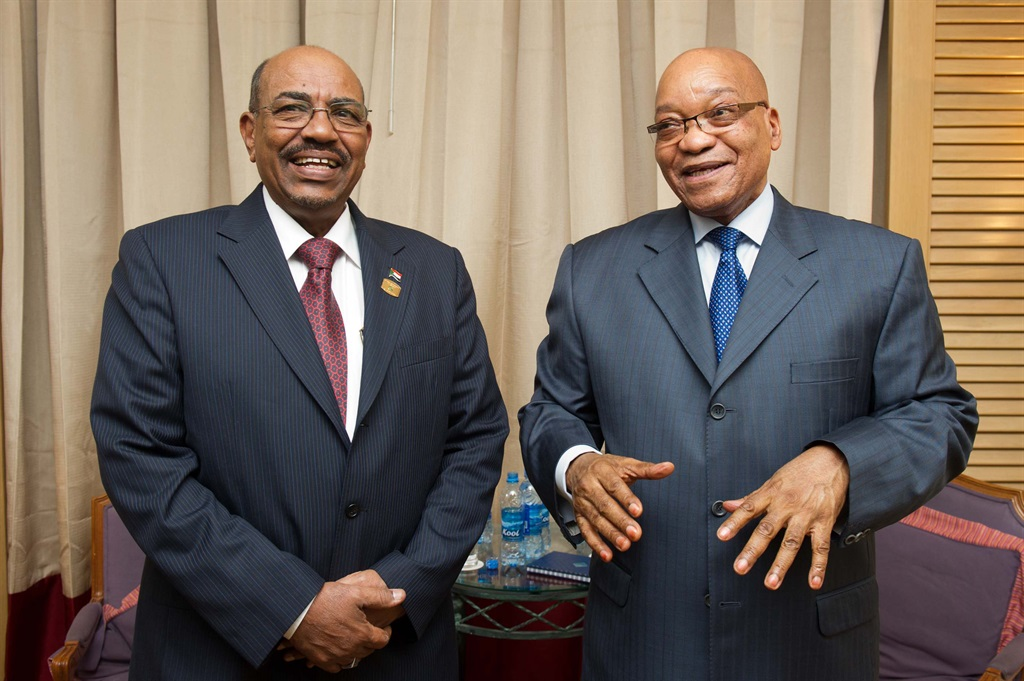 President Zuma at a bilateral meeting with Sudanese President Omar al-Bashir during the 19th Ordinary Session of the Assembly of the African Union held at the African Union Headquarters in Addis Ababa, Ethiopia. Picture: File