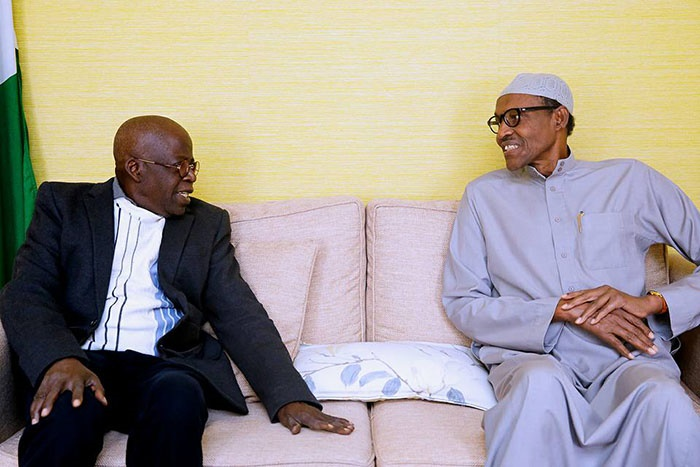 Bola Tinubu meets with Buhari in London