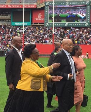 President Jacob Zuma at the Easter service at Ellis Park. (Claudi Mailovich)