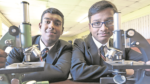 Raisethorpe Secondary School pupils Yeshan Naidoo (16, left) and Sarthak Kokane (14) have both been chosen to represent the country at chemistry and biology international olympiads.