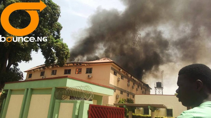 kaduna electoral office fire