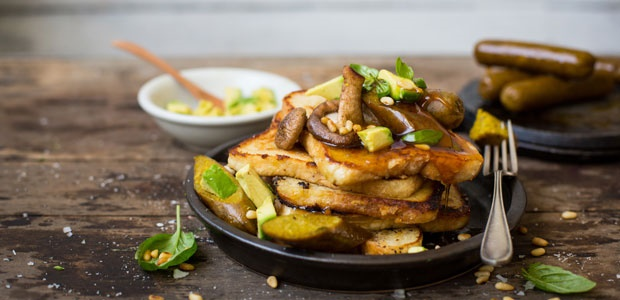 french toast,sausage,vegan, recipes, frys family f