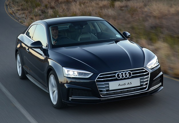 audi 39 s new muscular a5 arrives in sa 39 pitch perfect. Black Bedroom Furniture Sets. Home Design Ideas